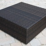 Wicker Coffee Table in Black