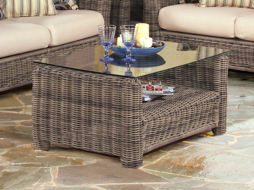 Wicker Coffee Table With Storage Image And Description