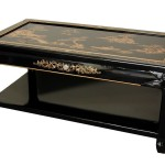 Asian Coffee Table with Open Shelf