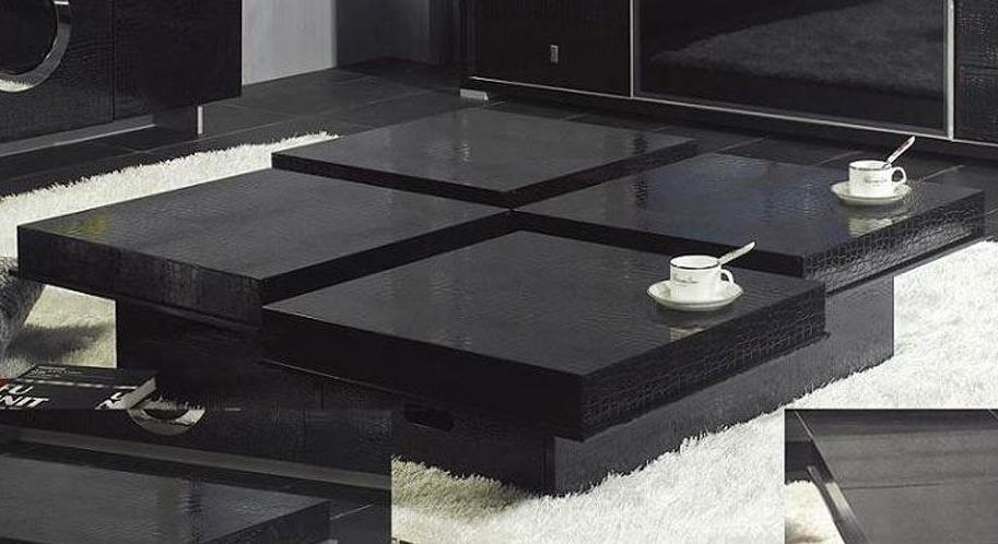 Black Coffee Table With Hidden Storage Image And Description