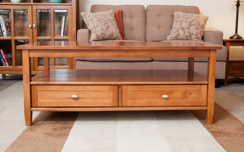 Coffee Table With Drawers And Shelf Coffee Tables