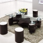 Coffee Table with Round Stools