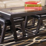 Contemporary Coffee Table with Stools