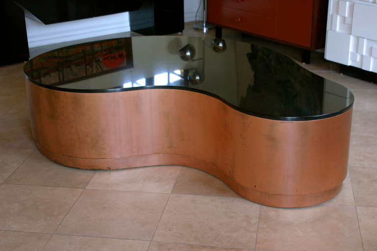 Copper And Granite Coffee Table