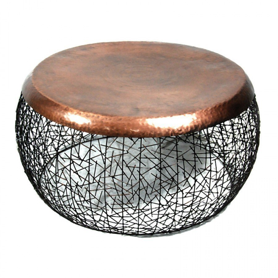 Copper Drum Coffee Table Image And Description