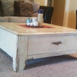 Distressed Coffee Table with Drawer