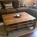 Extra Large Coffee Table with Wheels