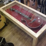 Guitar Glass Display Coffee Table