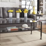 Industrial Coffee Table Wrought-Iron Style