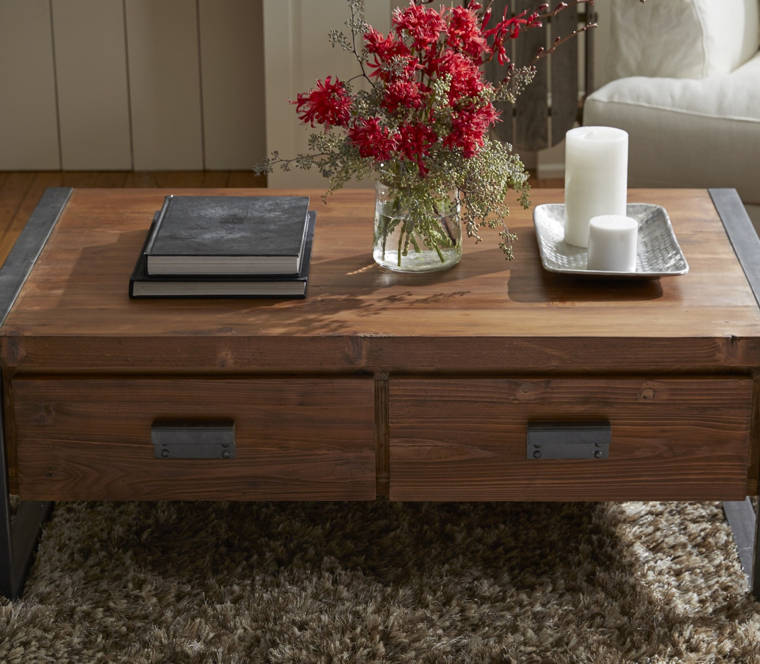 coffee table with drawers Industrial Coffee Table With Drawers | Coffee Tables coffee table with drawers