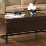 Industrial Trunk Coffee Table with Lift Top