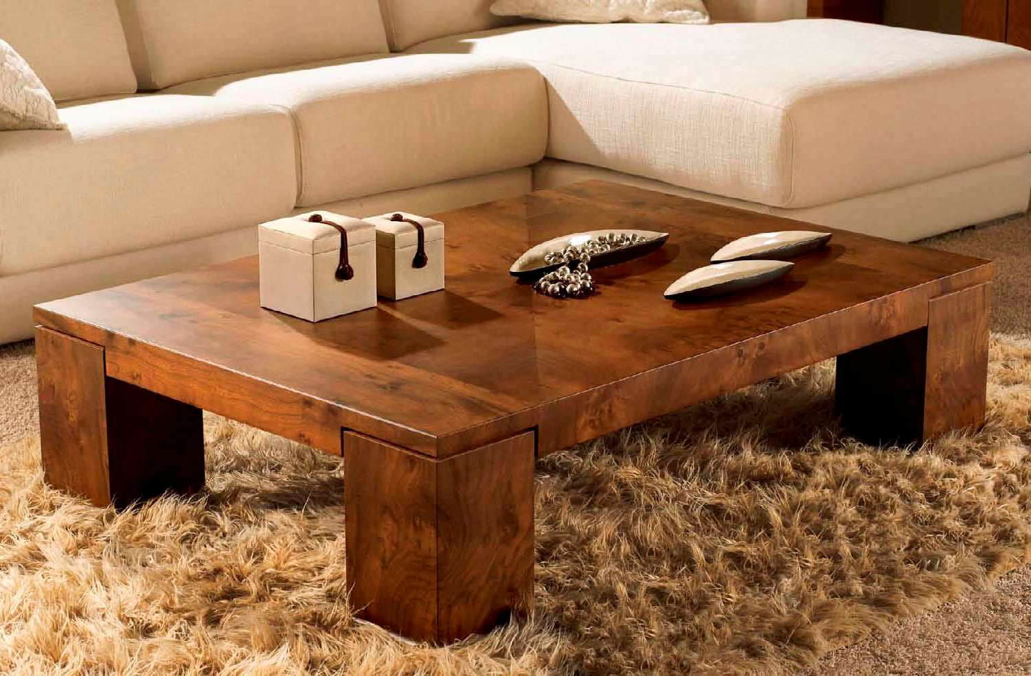 Awesome Natural Solid Wood Coffee Table Image And Description