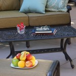 Outdoor Curved Coffee Table