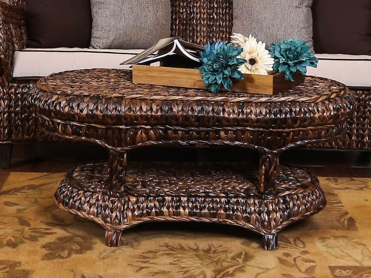 Posh Rattan Coffee Table