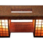 Rattan Coffee Table with Lamp