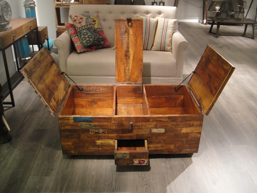 Reclaimed Wood Chest Coffee Table Image And Description