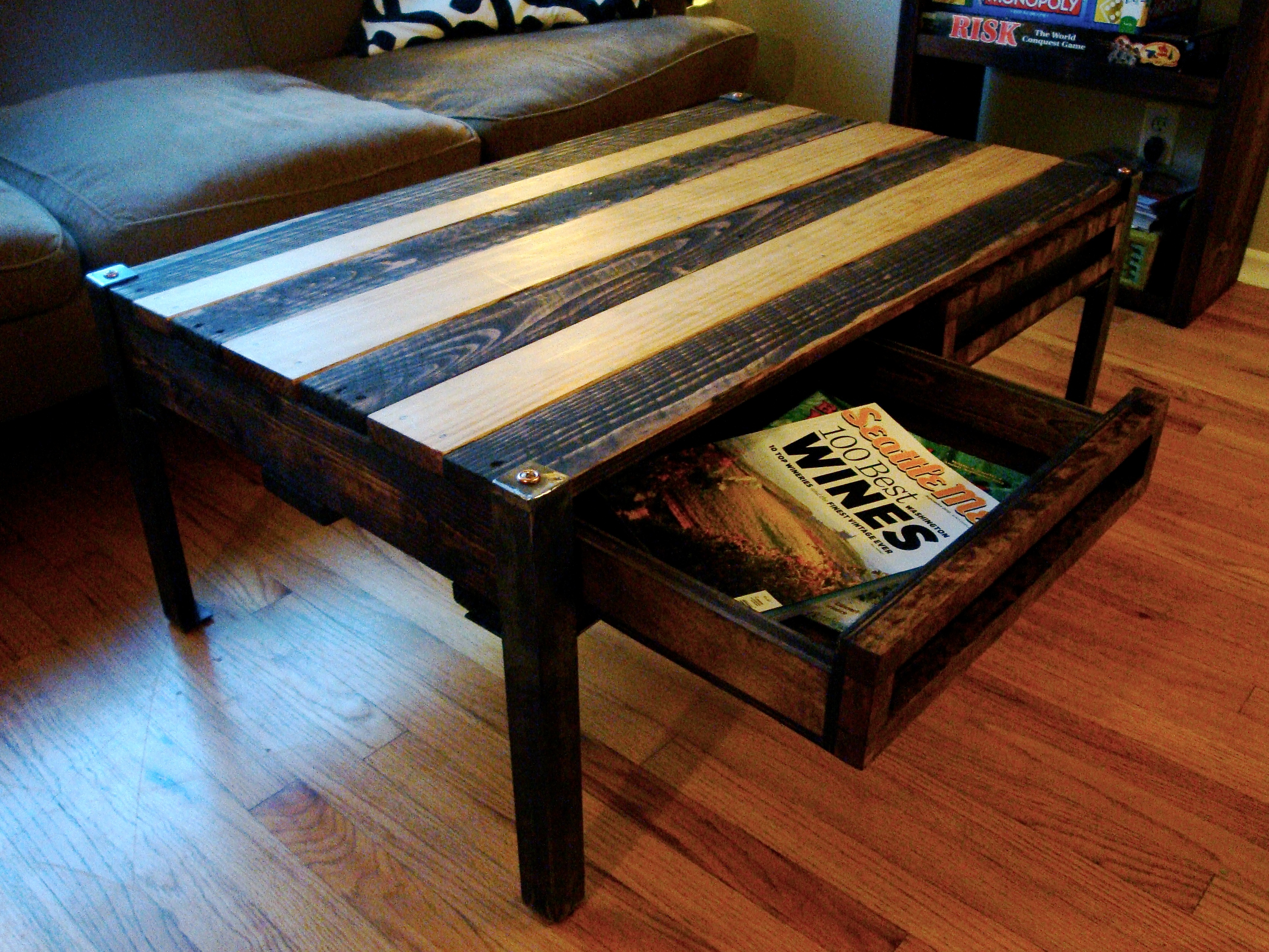 Attrayant Reclaimed Wood Pallet Coffee Table Image And Description