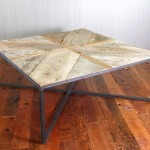 Reclaimed Wood X-Base Coffee Table