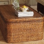 Rectangle Rattan Coffee Table with Storage