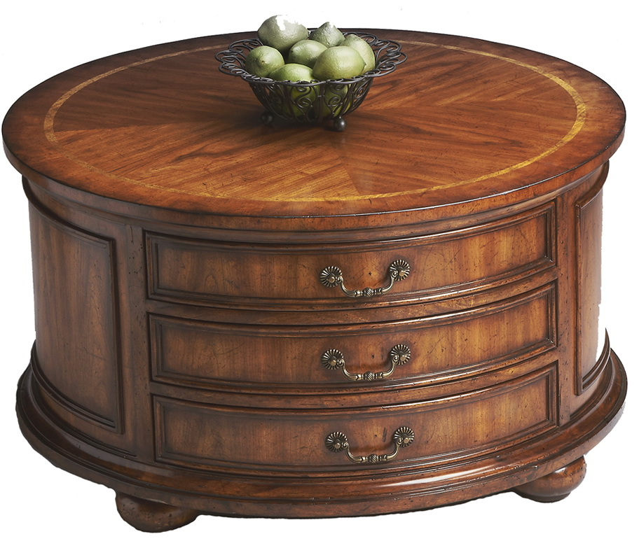 Round Coffee Table With Drawers Tables