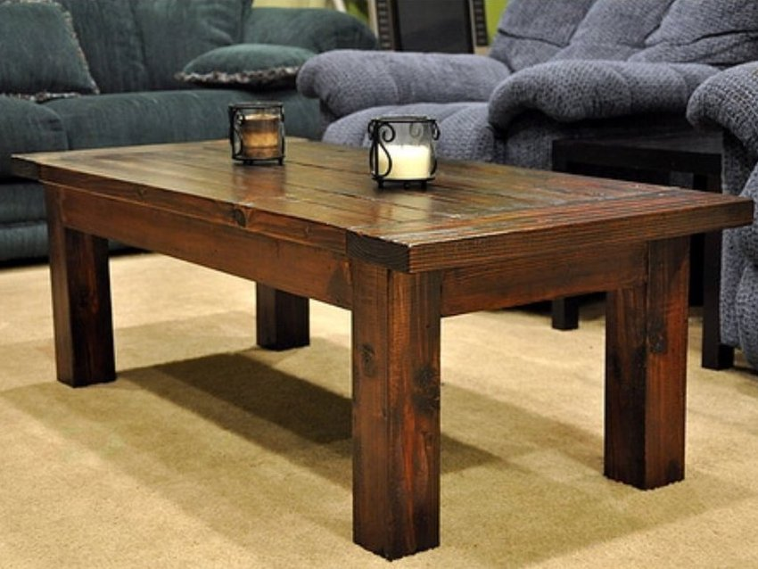 rustic solid wood coffee table | coffee tables