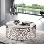 Silver Circle Coffee Table