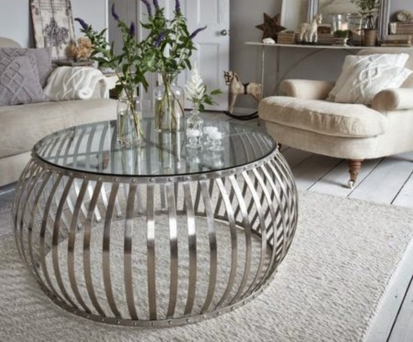 Silver Drum Coffee Table The