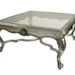 Silver Coffee Table French Style