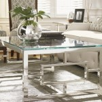 Silver Glass Top Coffee Table