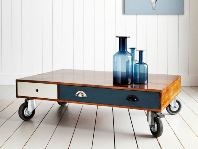 Small Drawer Coffee Table With Wheels Image And Description
