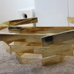 Stacked Brass Coffee Table