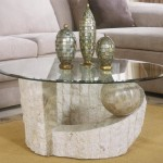 Stone Coffee Table with Glass Top