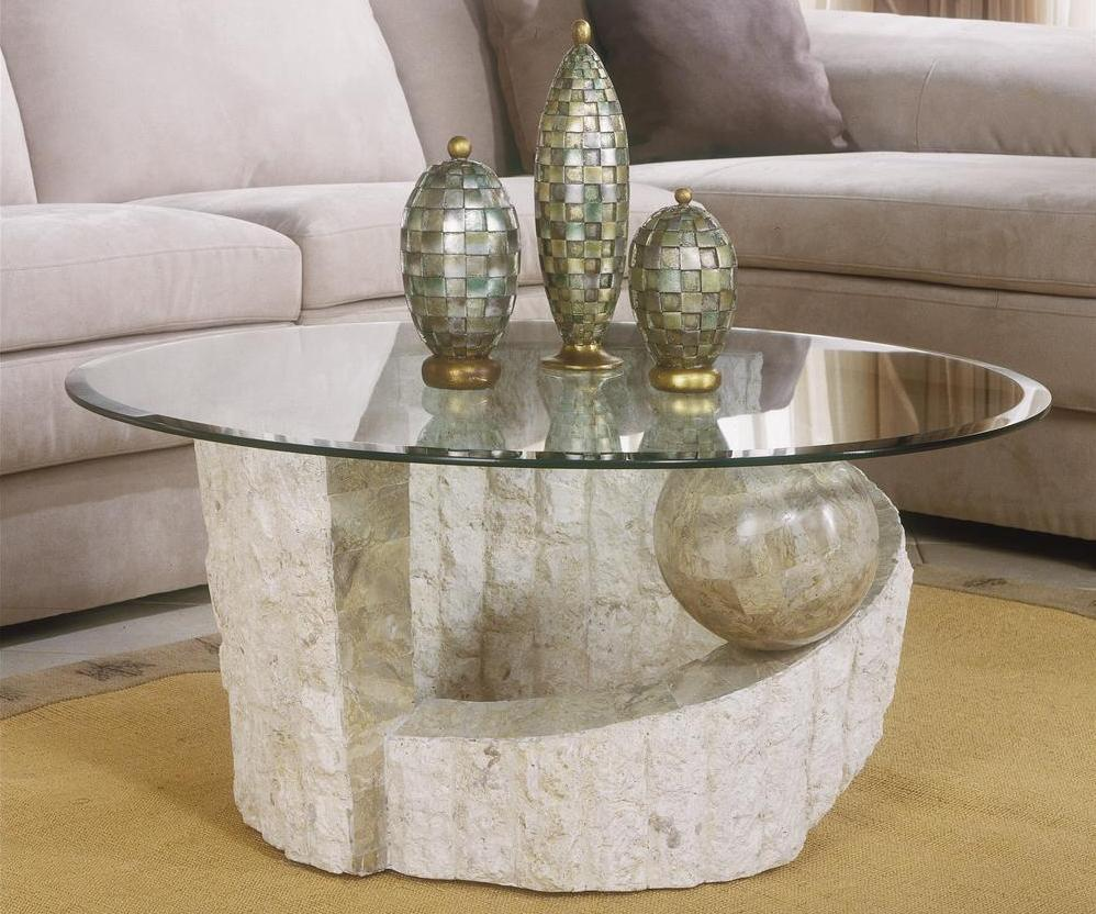 Stone Coffee Table With Gl Top Image And Description