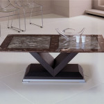 Stone V-Base Coffee Table