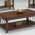 Traditional Coffee Table with Metal Accents