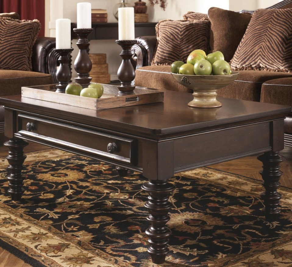 Traditional Rectangular Coffee Table