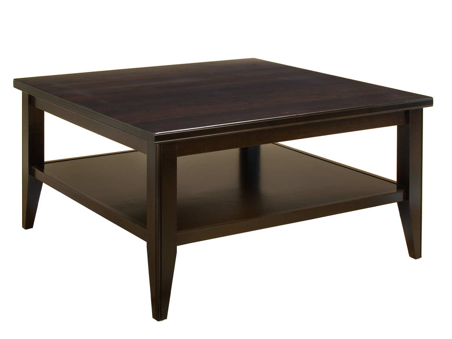 Traditional Square Dark Brown Coffee Table Coffee Tables