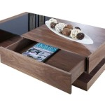 Walnut Coffee Table with Storage Box