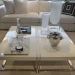 White Lacquer Coffee Table Design