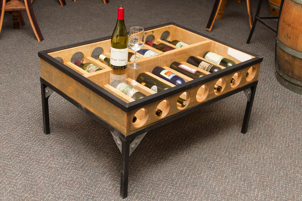 Wine Bottle Gl Display Coffee Table Image And Description