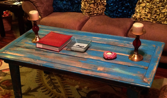 Wooden Distressed Coffee Table