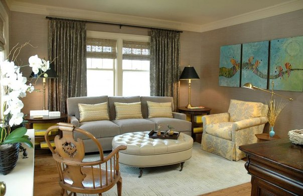 Upholstered Coffee Table in Living Room