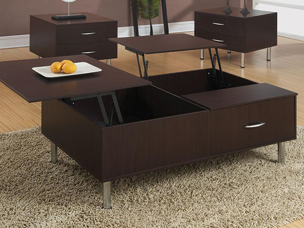 Lift Top Espresso Coffee Table