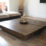 Low and Large Oversized Coffee Table