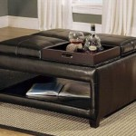 Ottoman Coffee Table with Multiple Trays