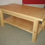 Pine Coffee Table with Open Shelf