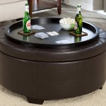 Round Ottoman Coffee Table Tray