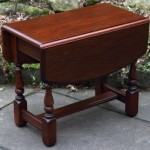 Small Oak Drop Leaf Coffee Table