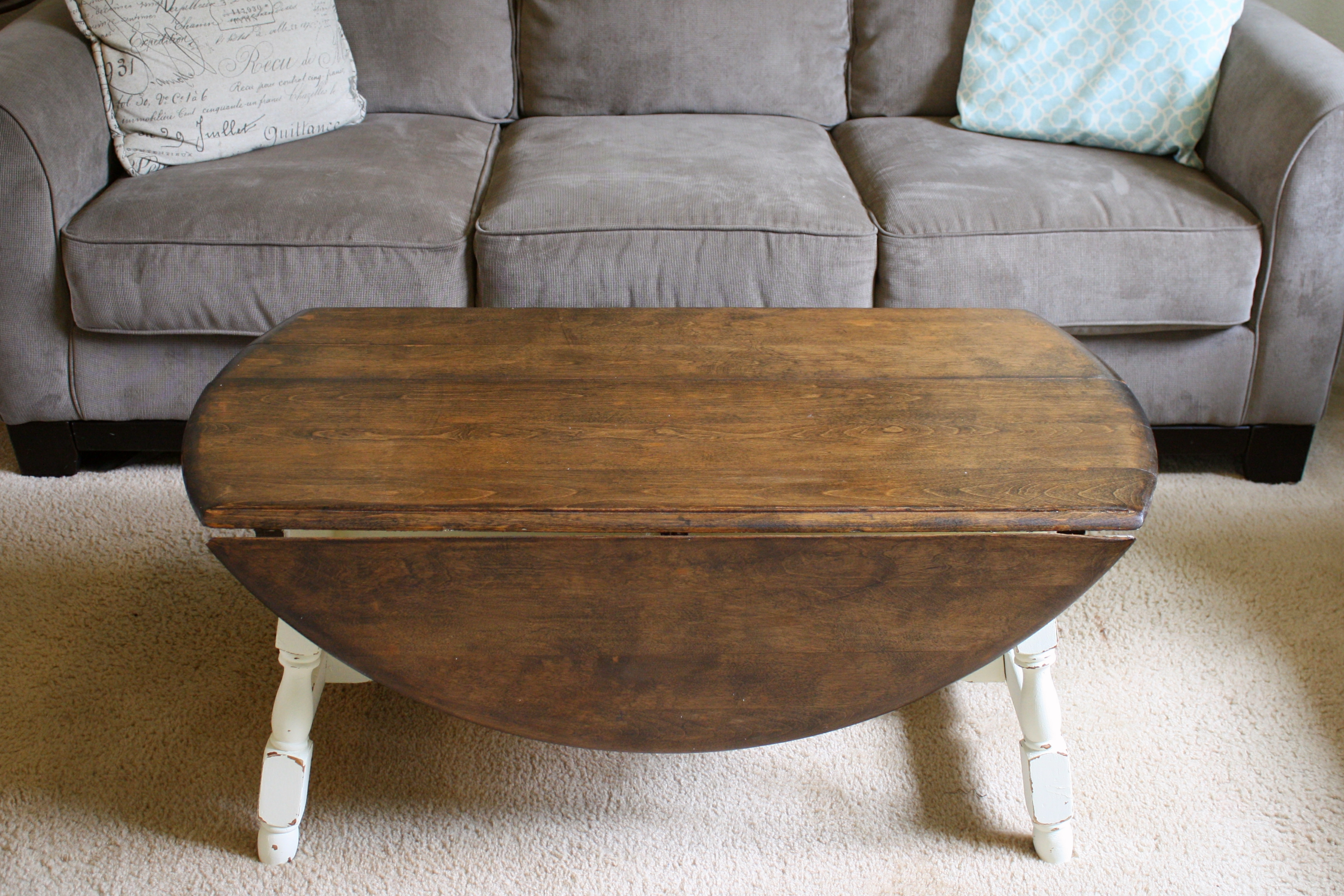 Wooden Drop Leaf Coffee Table Image And Description
