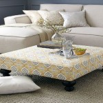 Low Upholstered Coffee Table